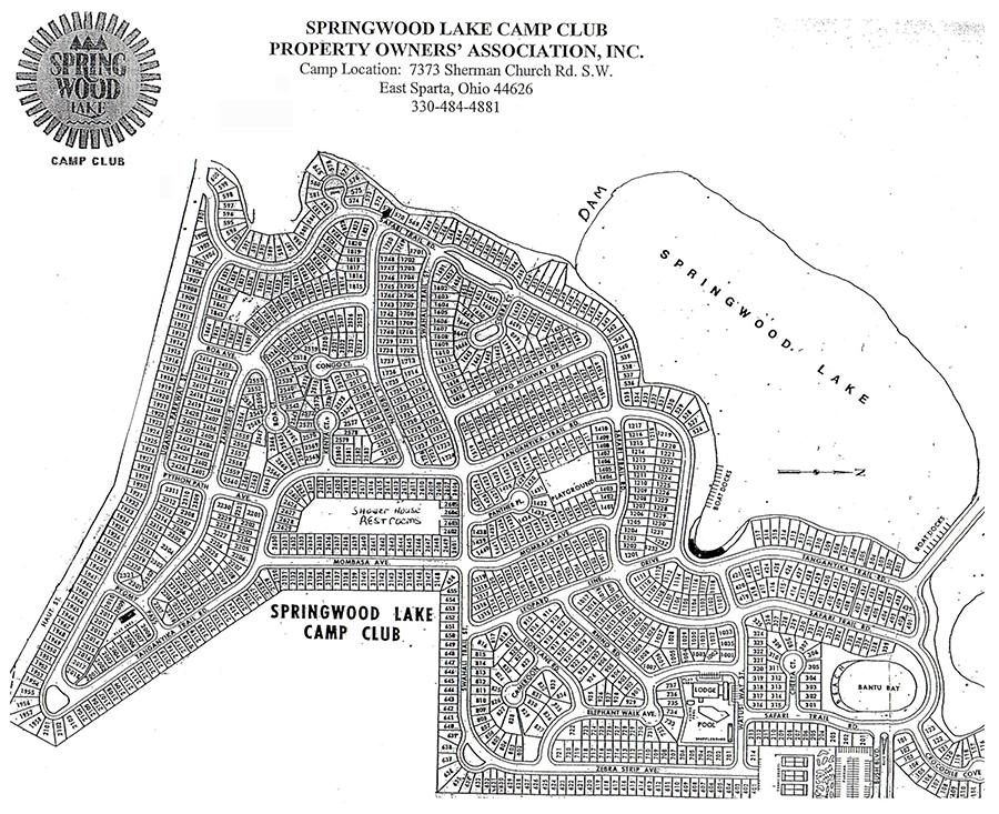 Springwood Lake Property Map
