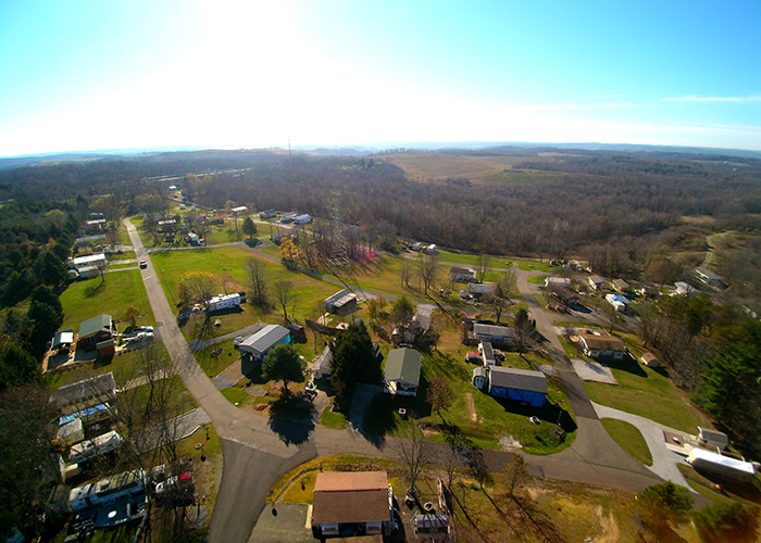 Aerial view by drone