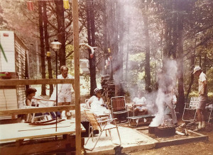 Early 1970's campers at Springwood Lake Camp